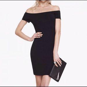 Express Off The Shoulder Little Black Dress